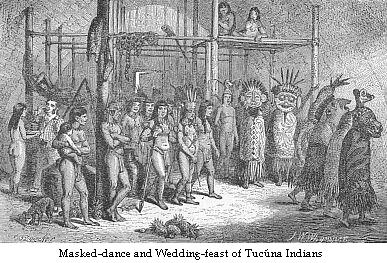 Masked-dance and wedding-feast of Tucúna Indians.