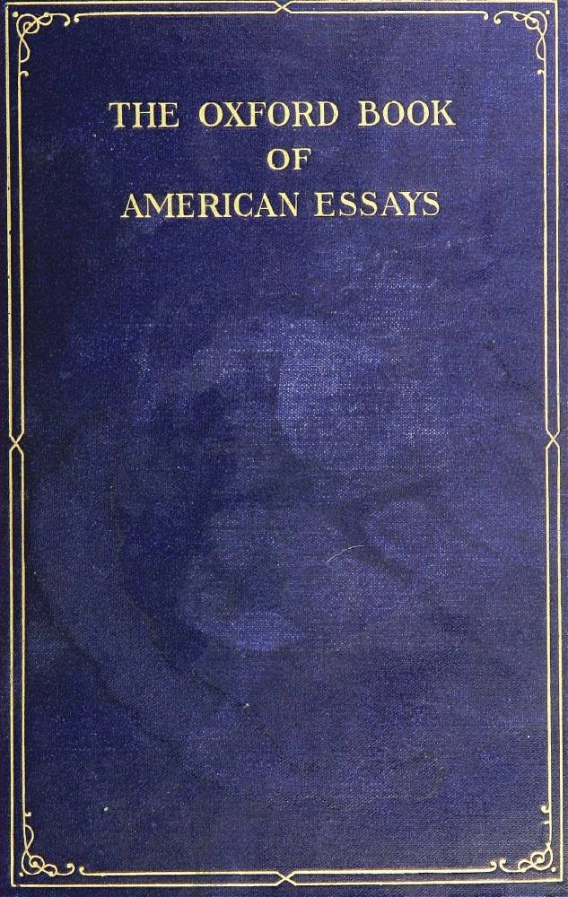 the oxford book of essays contents