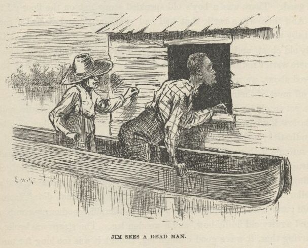 What are some conflicts in The Adventures of Huckleberry Finn (Chapters 1-15)??
