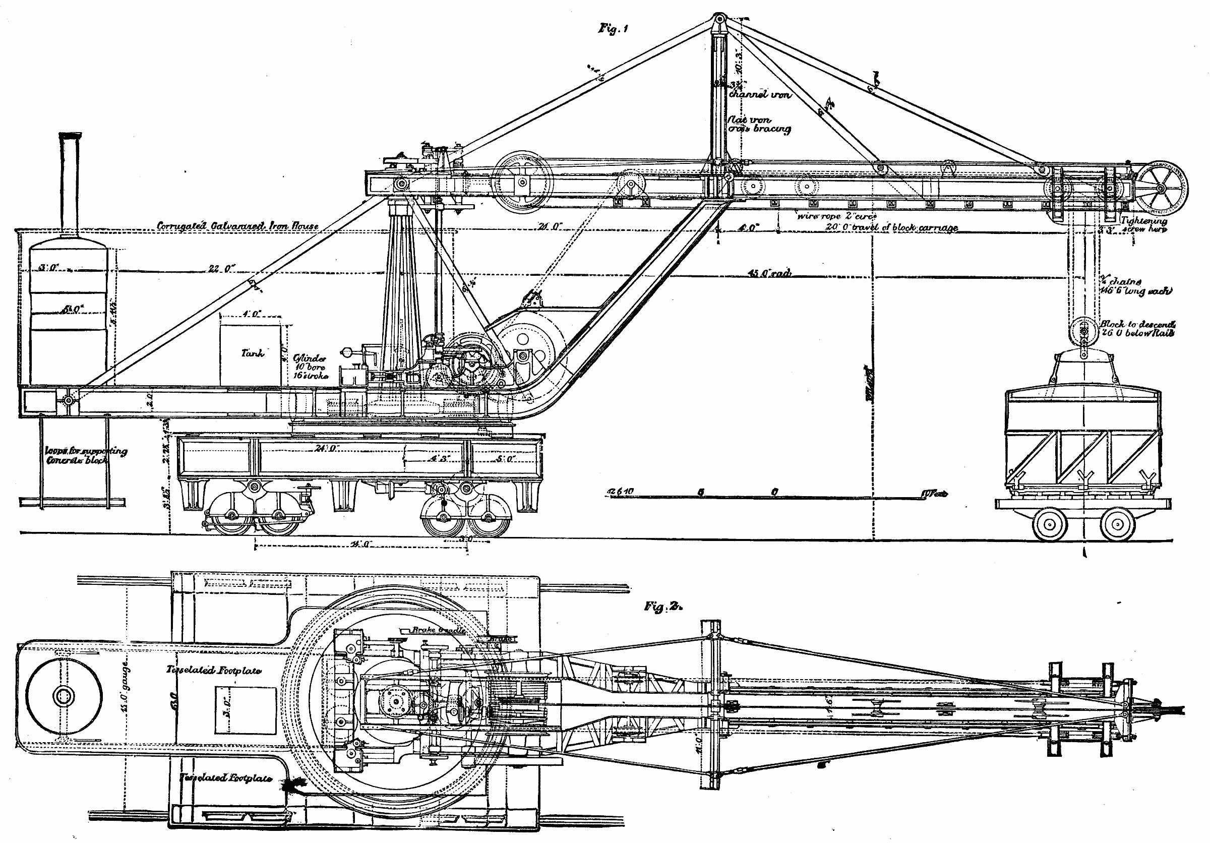 hiab crane diagram