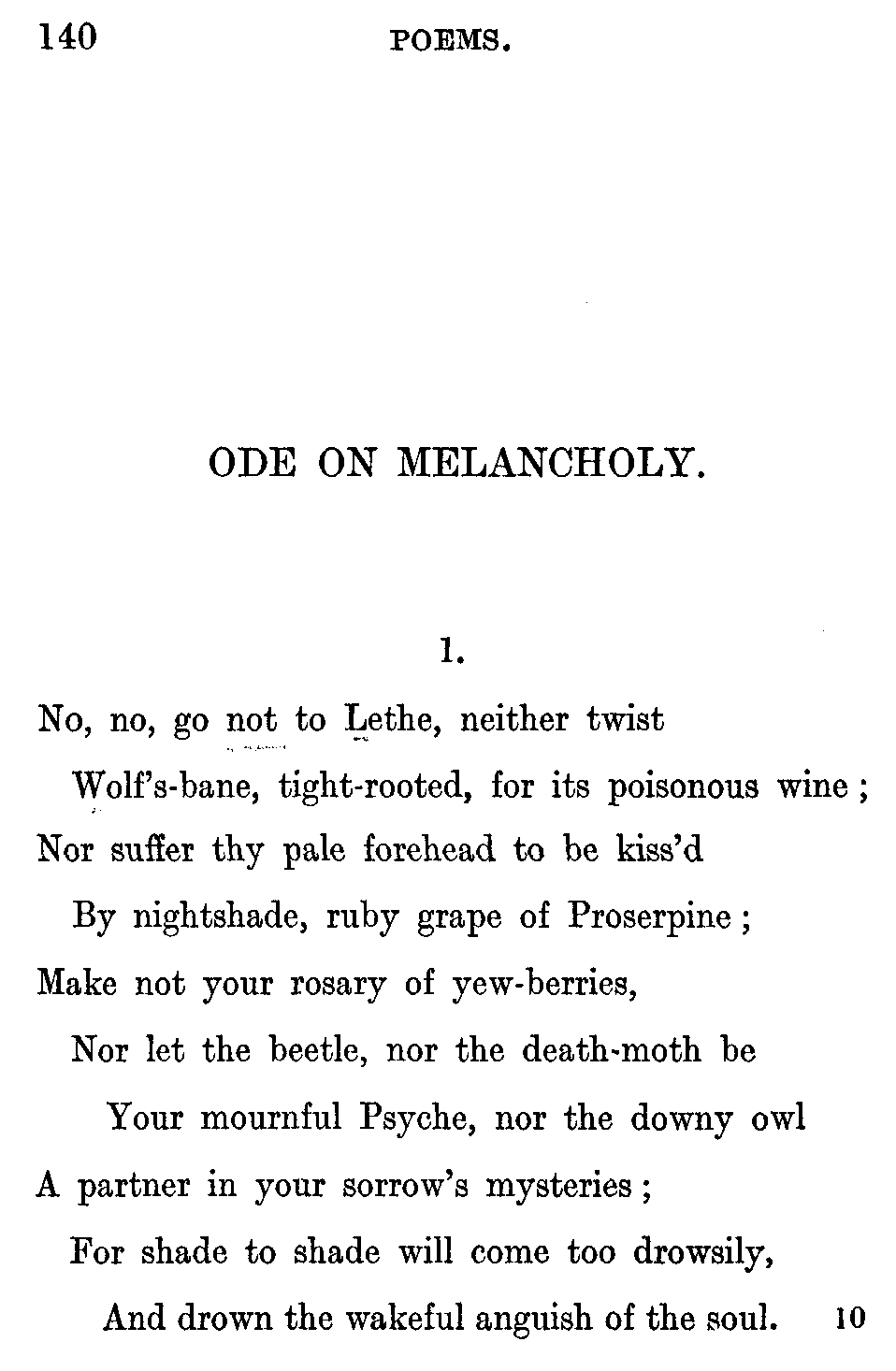 ode on melancholy commentary essay Check out our top free essays on keats ode on melancholy to help you write your own essay.