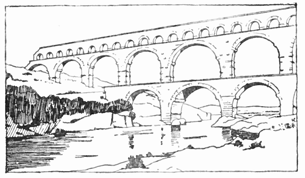 The project gutenberg ebook of architecture by mrs for Pont du gard architecte