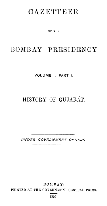 History of Gujarát