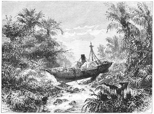 De Barouw boven de rivier Koeripan. (Blz. 371.)