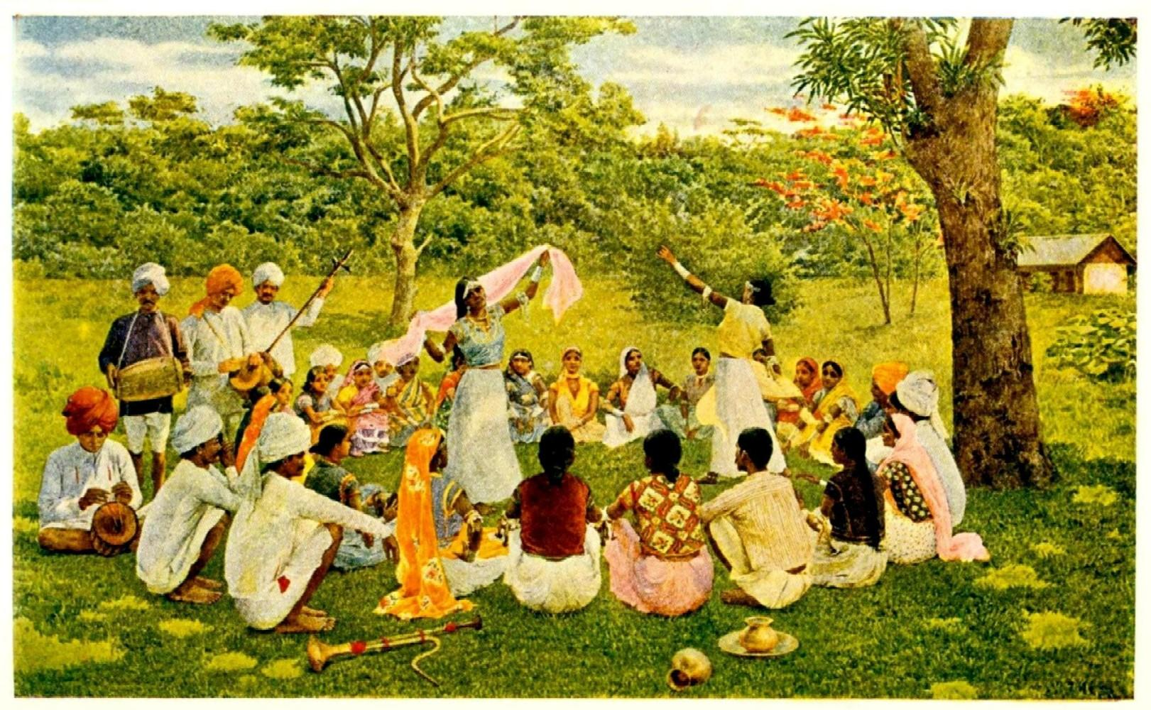 East Indian Coolies On A Trinidad Cacao Estate
