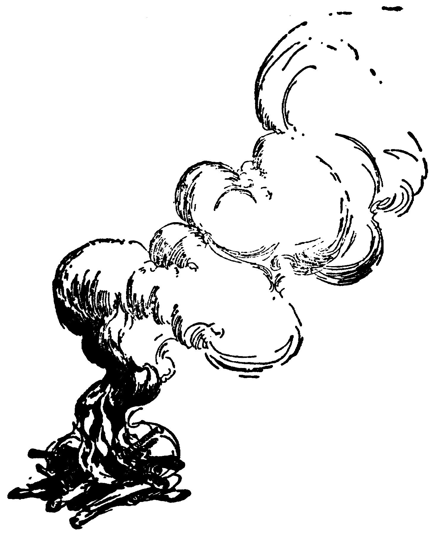 Раскраска дым из трубы