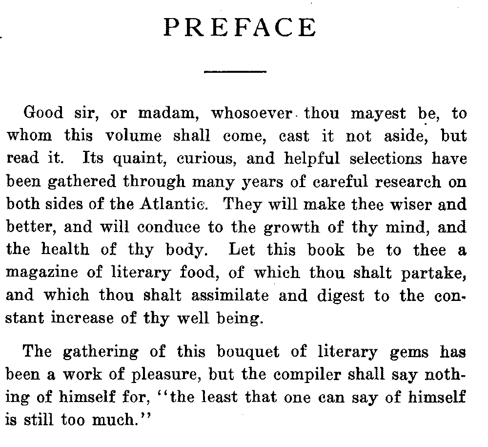 how to write preface for school project